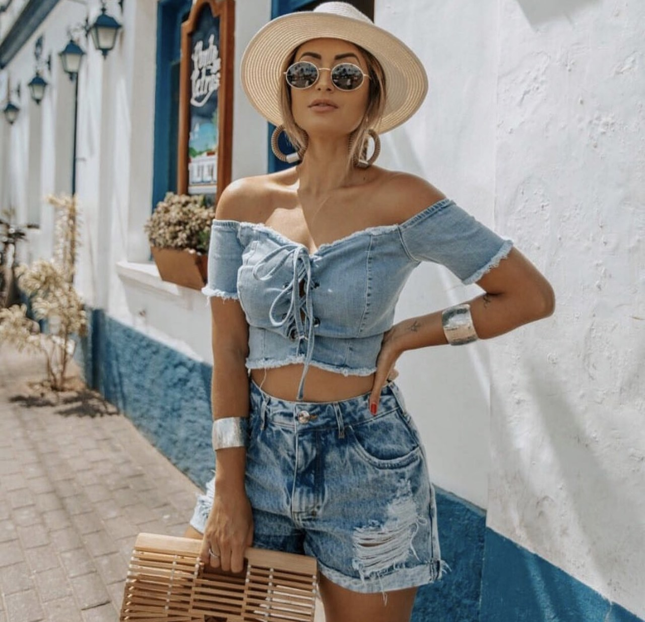 Cropped Jeans Amarração