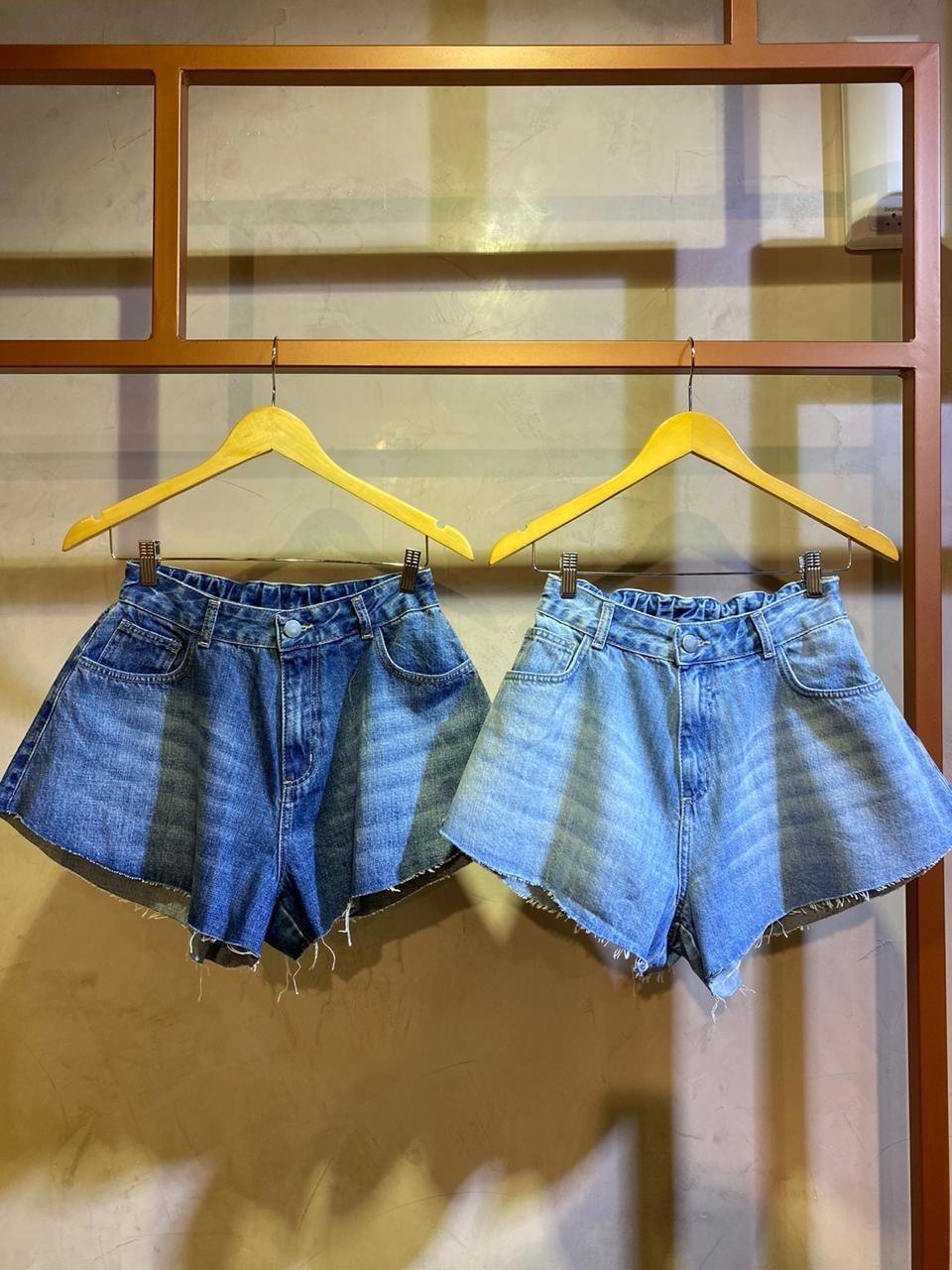 Shorts Jeans Gode Nicole Lavagem escura