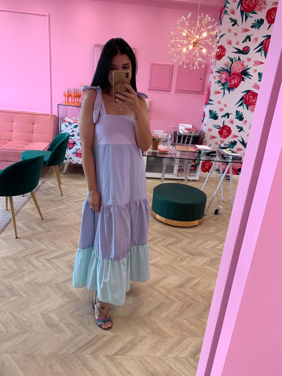 Vestido listras Milena