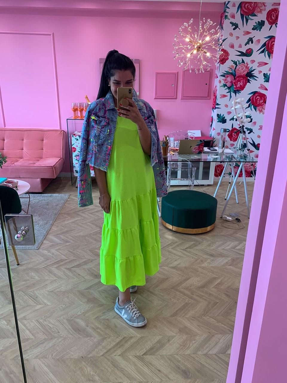 Vestido midi Neon