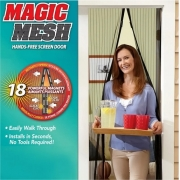 Cortina Anti Insetos Tela Mosquiteiro Magic Mesh Porta
