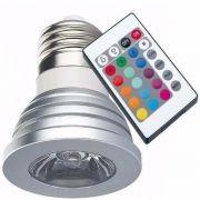 Lâmpada Rgb Sport Led 16 Cores Controle 24 Funções 3w E27