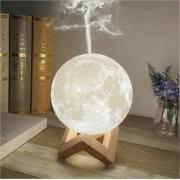Luminária Abajur Umidificador Aromatizador Lua Cheia