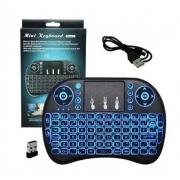 Mini Teclado Controle S/ Fio Touch Led Pc/note/gamer/tvsmart