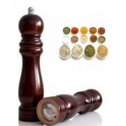 Moedor Pimenta E Sal Em Madeira Cerâmica 15cm Kehome