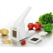 Picador De Legumes Frutas E Verduras Com 2 Lâminas Em Inox