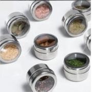 Porta Temperos E Condimentos Com Imã Em Aço Inox