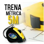 Trena Emborrachada 5m X 18mm Fita Larga C/ Trava Metrica