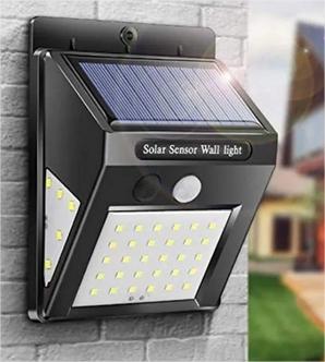 Luminária Solar Parede  Sensor Presença