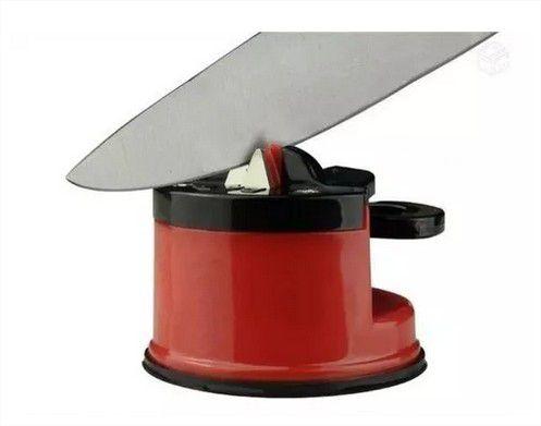 Afiador Amolador De Facas Tesoura Canivete Facão Ventosa