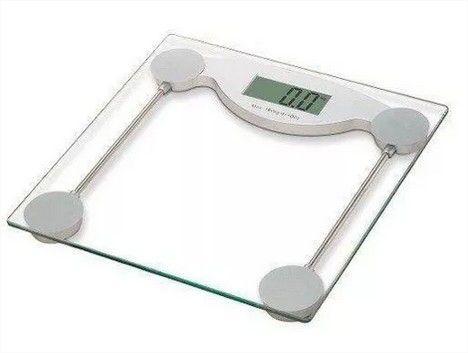 Balança Digital Vidro Temperado Quadrada Academias Banheiro Clínicas