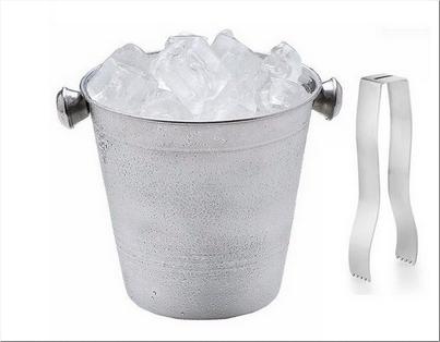 Balde de Gelo Aço Inox c/ Pegador