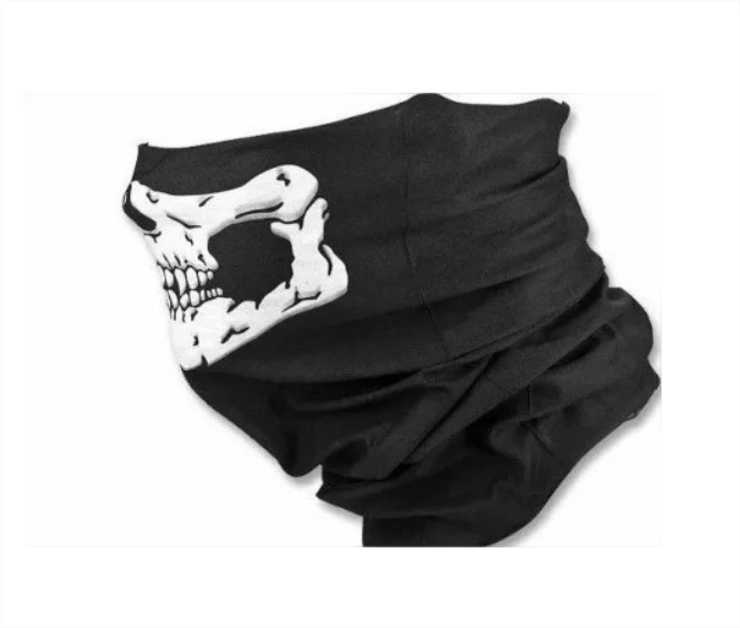Bandana Caveira Balaclava Touca Máscara Paintball Airsoft