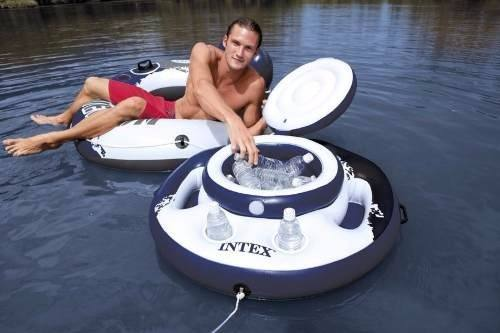 Bar Flutuante Intex Cooler Inflável Piscina 24 Latas Boia