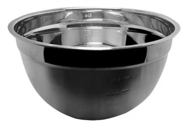 Bowl Tigela Mixing Em Aço Inox De 22cm