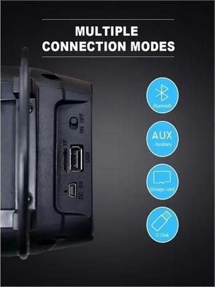 Caixa De Som Bluetooth Portátil Wireless Kimiso Led Radio Fm