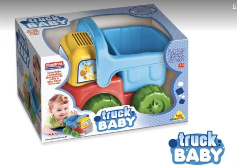 Caminhão Bebê Little Truck Plasbrink Colorido E Educativo