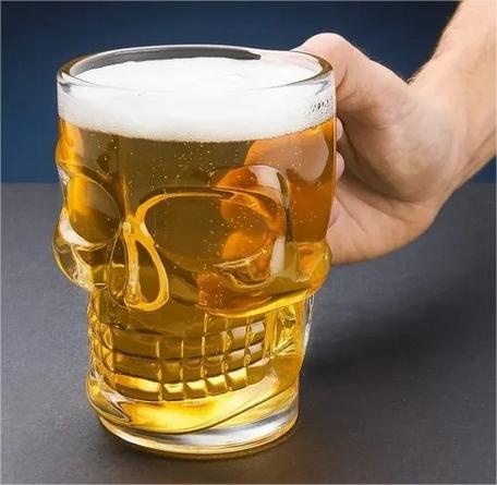 Caneca Cerveja Copo Caveira Personalizado Chopp