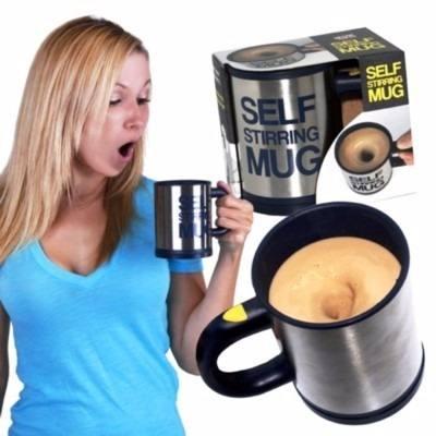 Caneca Elétrica Inox Mixer Shake Café Misturador 350ml
