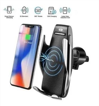 Carregador Smart Sensor Wireless Charger S5 Haiz Veicular Qi