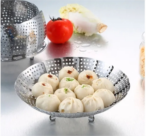 Cesto Inox Cozinhar Legumes Vapor
