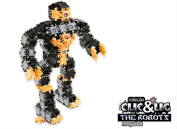 Clic & Lig The Robots Megabot (160 Pçs) - Plasbrink