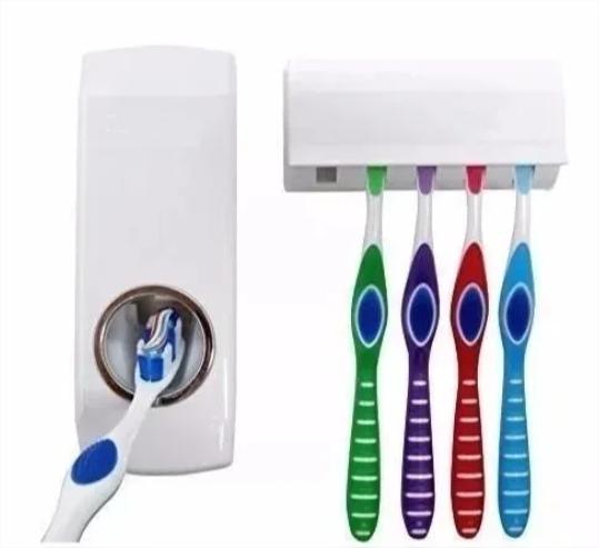 Dispenser Pasta De Dente Com Suporte De Escovas Branco