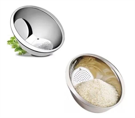 Escorredor de arroz inox 24cm