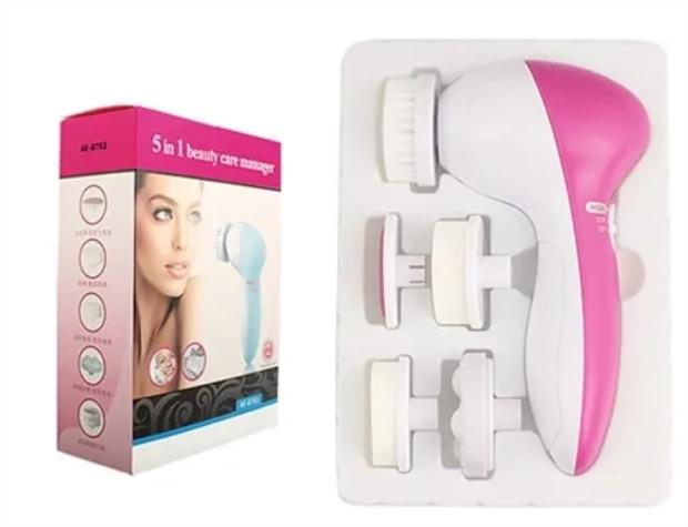 Escova Elétrica Limpeza Facial Massageadora Esfoliação Derma