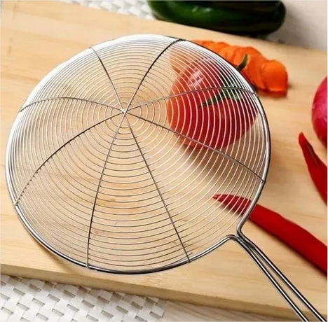 Escumadeira Inox Para Frituras 18cm Aramada Cozinha