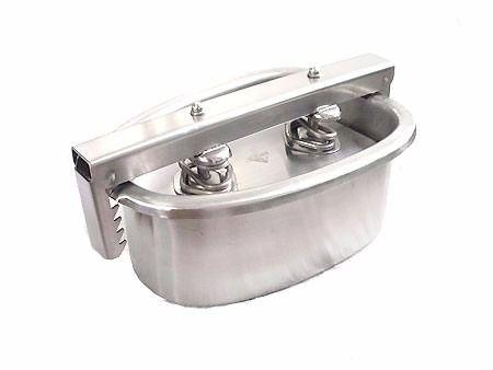 Forma em Inox Para Fabricação De Presunto Oval 1,150 Kg