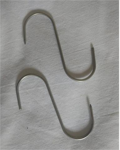 Gancho Aço Inox Para Açougue S0c 10,8cm Kit C/12 Un