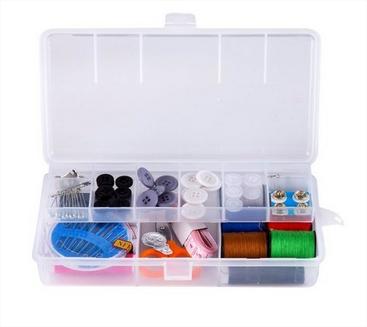 Kit de Costura Prático com Caixa Organizadora