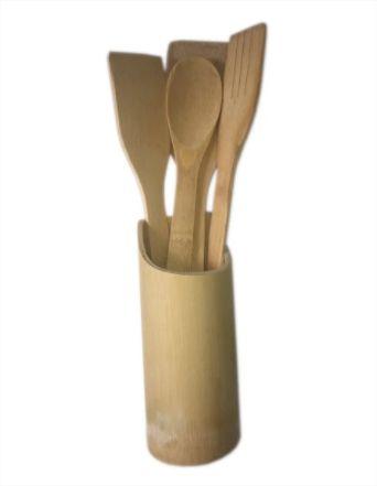 Kit de Talher em Bambu 5 Peças