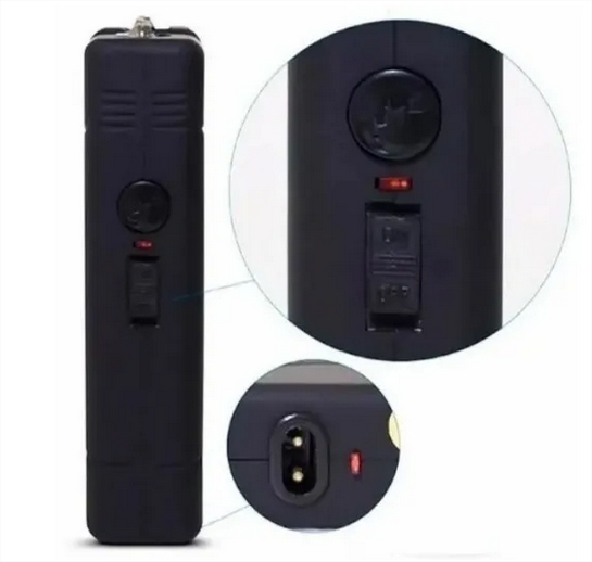 Lanterna Mini Teiser Choque Taser Desfesa 30000w C/ Coldre