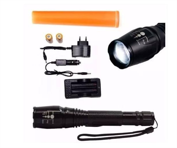 Lanterna Ultra Forte Led T6 Com Controle de Foco