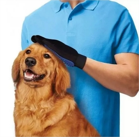 Luva Magnética Tira Pelos Cachorro Gato