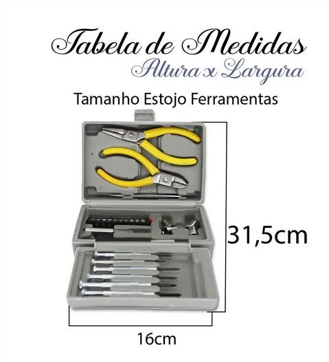 Maleta Kit 26 Peças Alicate Chave Soquete Bits Ferramentas