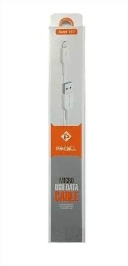 Marca: Pmcell Modelo: CB-11 Cor: Branco Conector de Saída: Micro USB Conector de Entrada: USB Garantia: 3 Meses Comprimento de 1 Metros Capacidade: 2A