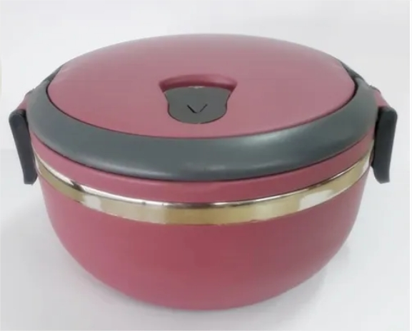 Marmita Inox E Lancheira Termica Vermelho