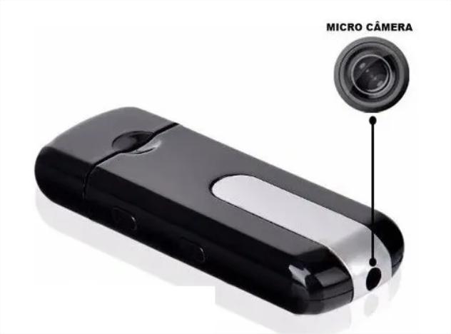 Mini Câmera Pen Drive Espiã Filma Fotografia Voz Detector Mv