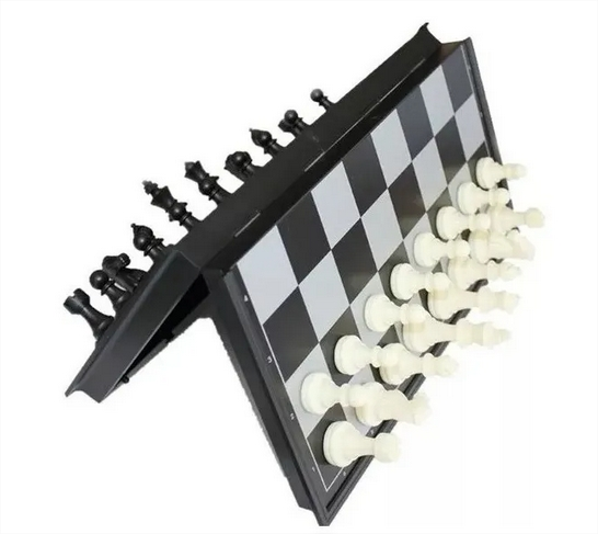 Mini Jogo De Xadrez Magnético Com Imã