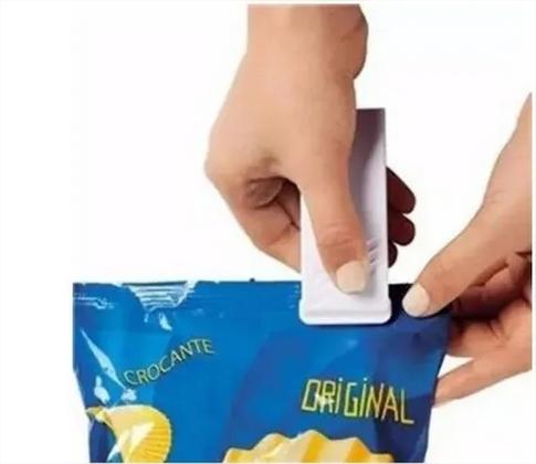 Mini Seladora Plástico Embalagem Pilha Lacrar Selar