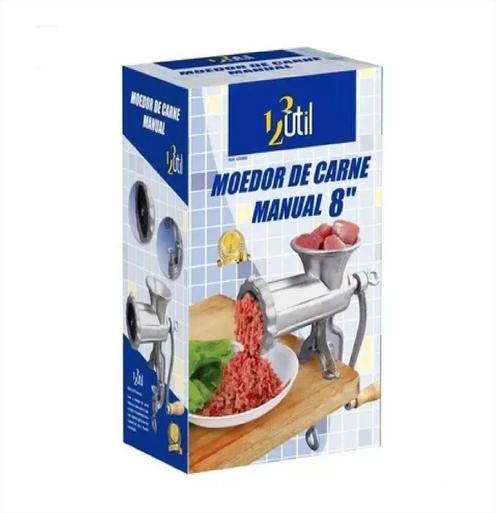 Moedor Carne Manual Maquina Moer Picadora Boca 8 Cm