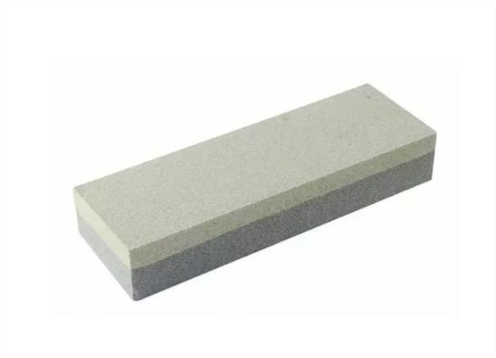 Pedra Brasfort 15cm Afiar Amolar Faca Tesoura Dupla Face