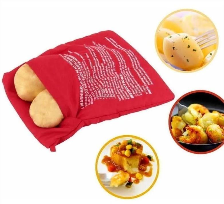 Saco para Assar Batatas e Legumes Microondas