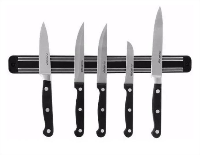 Suporte De Cozinha Barra Magnetica Imã Facas Ferramenta 33 cm
