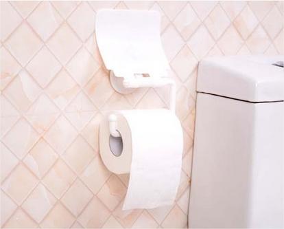Suporte De Plástico Para Rolo De Papel Higiênico Do Banheiro Com Gancho De Sucção