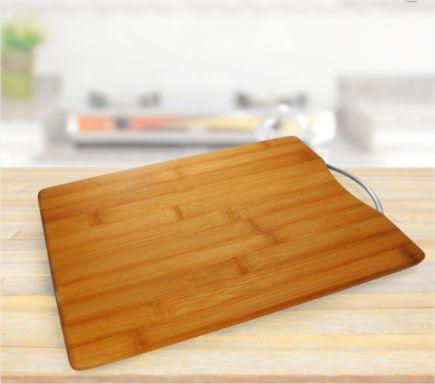 Tabua de Bambu Para Carnes Cozinha Churrasco Com Alça