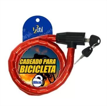 Trava Cadeado Articulado Moto Bicicleta Portão Antifurto 80c